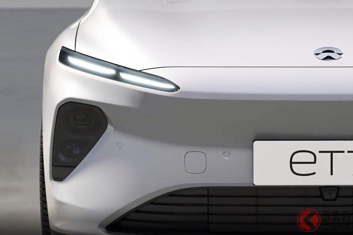 中国EVメーカーNIOが発表したセダンタイプの新型EV「ET7」。2022年には全固体電池車を投入するという。(画像:NIOホームページより)