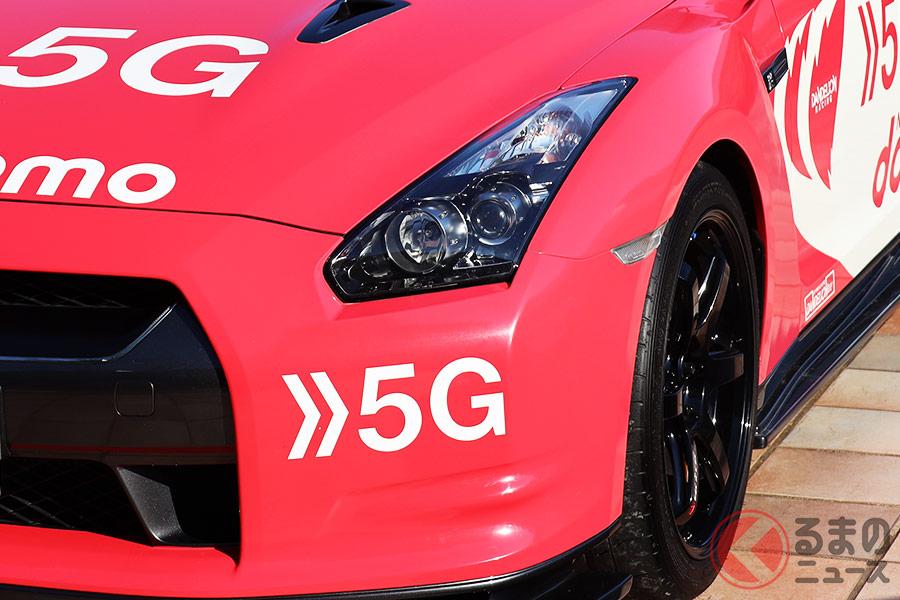ドコモが所有する日産「GT-R」はドコモカラーといえる白とピンク