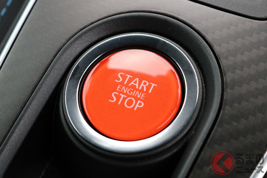 アルピーヌ「A110」のエンジンスタートボタンは赤