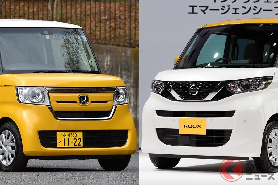 ホンダ「N-BOX」(写真左)と日産新型「ルークス」(写真右)