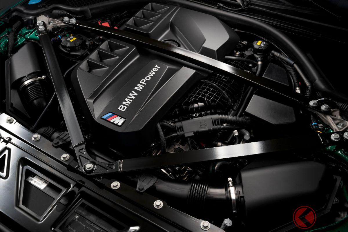 新型M3コンペティション/M4コンペティション用の3リッター直列6気筒ツインターボ「S58B30T0」。510ps/6250rpm、650Nm/2750-5500rpmを絞り出す