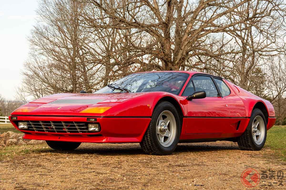 約2400万円で落札されたフェラーリ「512BBi」(C)2020 RM Sothebys
