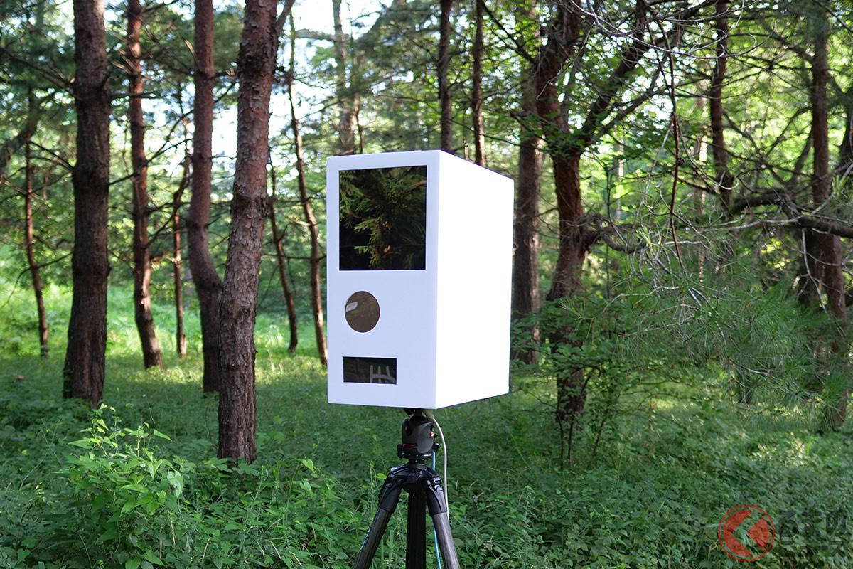 自作した移動式オービス風の野鳥撮影用カメラ