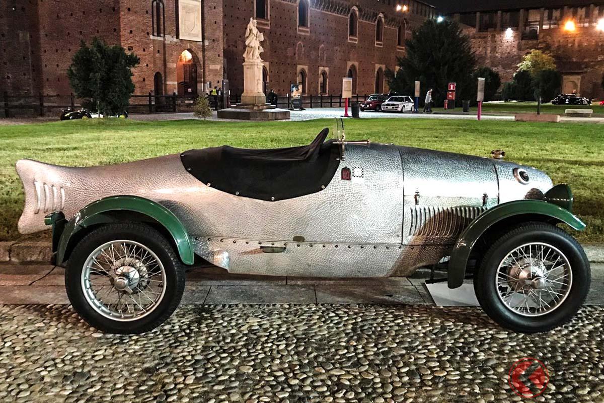 ミラノのスフォルツェスコ城内に置かれたフィアット「509ペーシェ」(C)野口祐子
