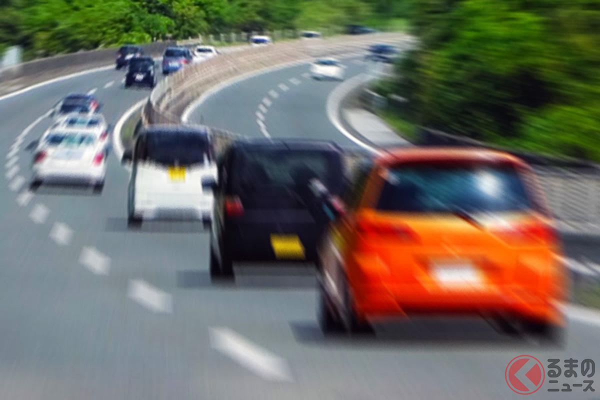 右側の追い越し車線を走り続けるのは違反