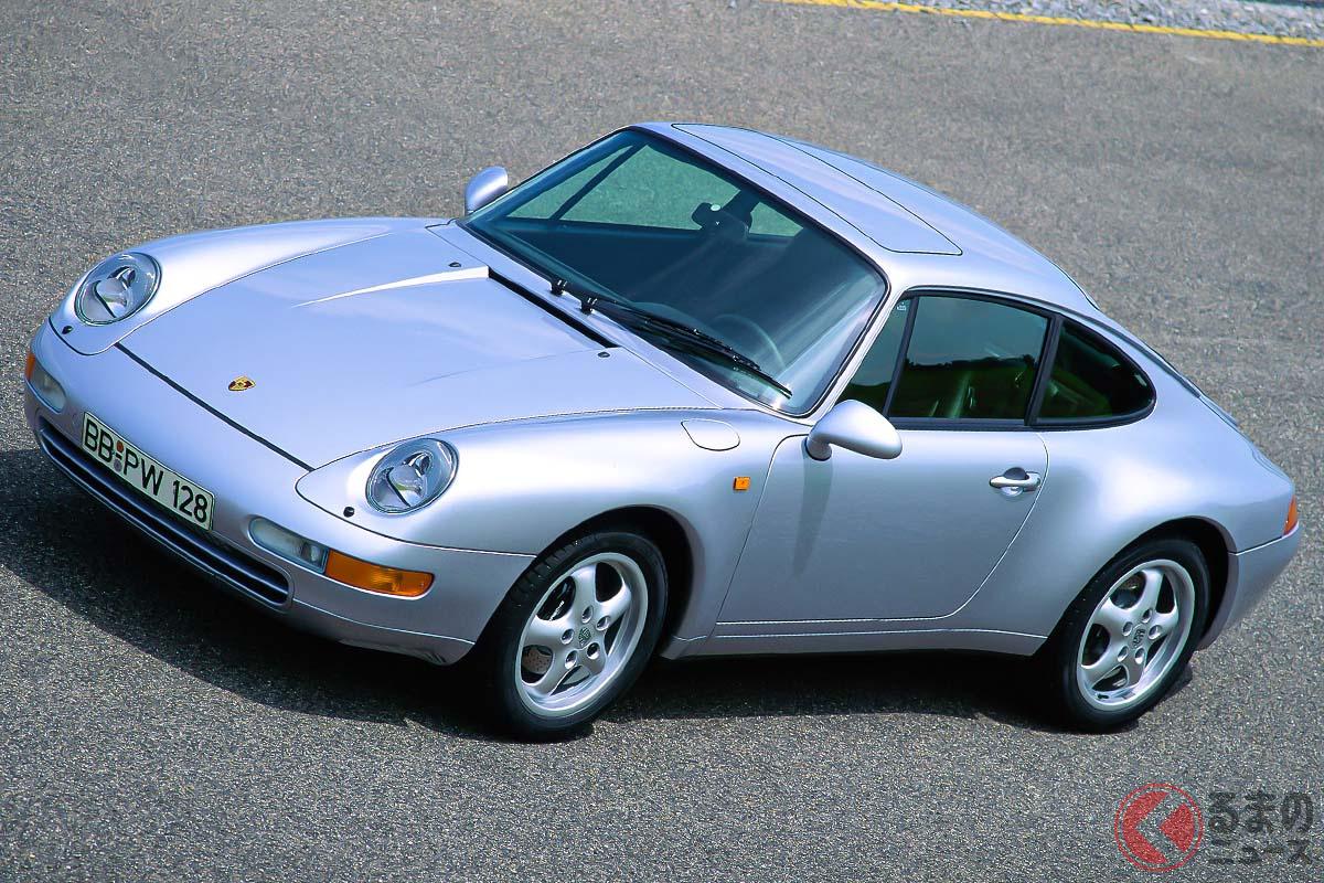 1993年に登場した993型ポルシェ「911 カレラ」。歴代911のエッセンスを受け継いだデザインでありながら、ボディのほとんどは新開発されたものだった(C)Porsche AG