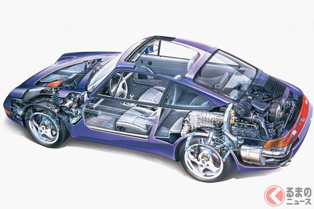 サスペンションや空力を最適化したことで、空冷911のなかでももっとも快適性能に優れている1台といえる。新車価格はカレラが1025万円、ターボが1760万円(C)Porsche AG