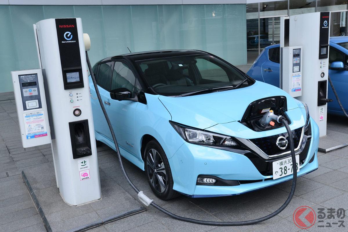 電気自動車市場をけん引してきた日産「リーフ」。世間がEVに関心を示す中、なぜ販売低迷しているのか