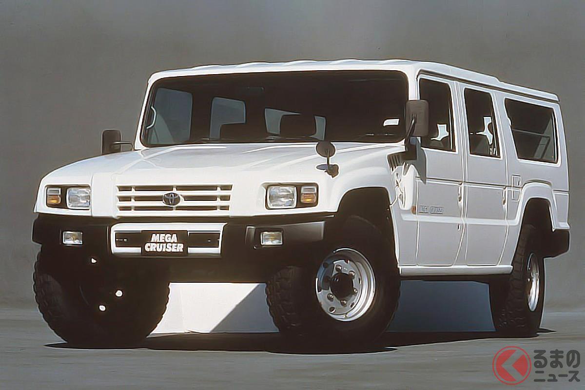 軍用車をベースに民生用に仕立てられ「和製ハマー」とも呼ばれる「メガクルーザー」