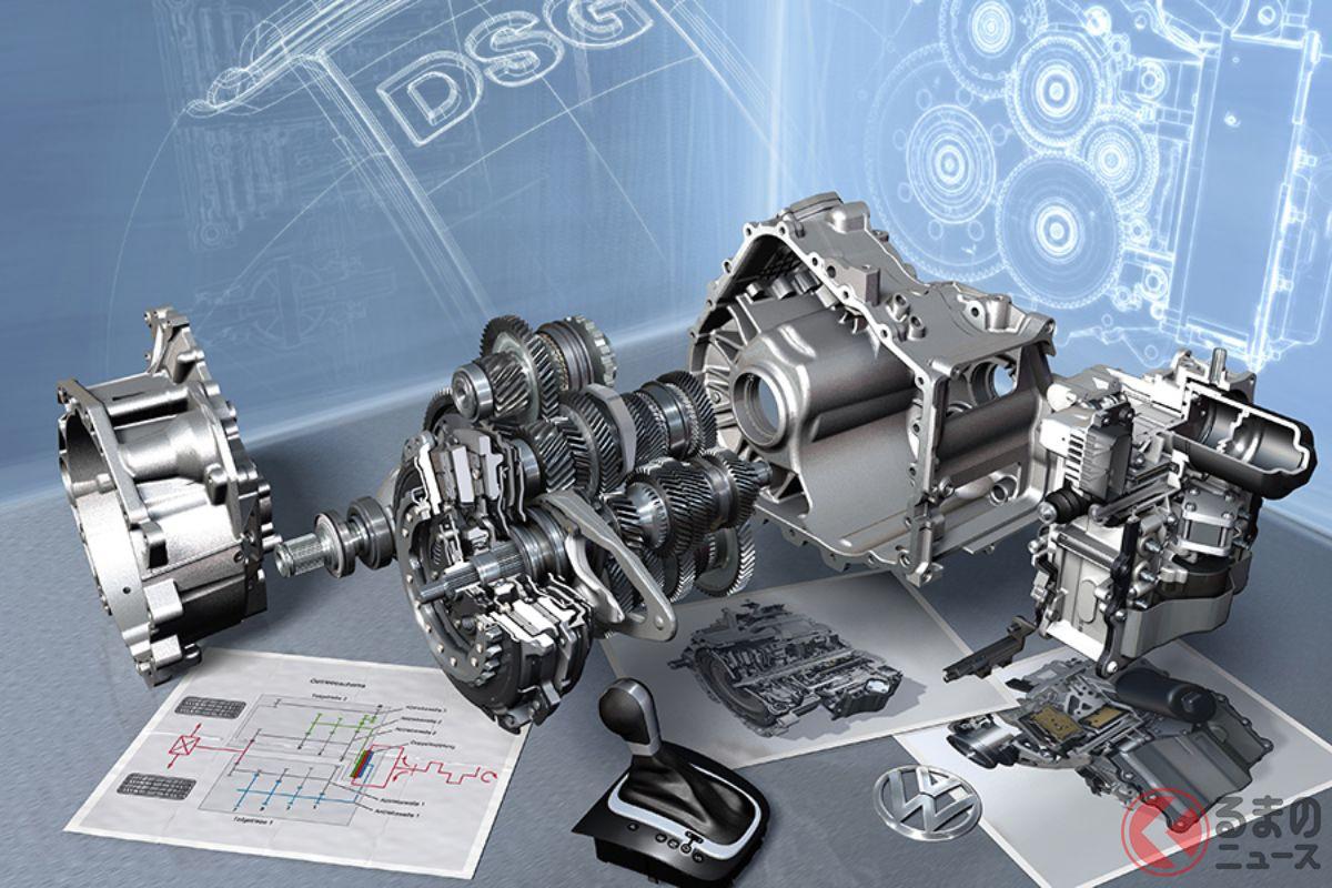 DCTの代表格といえば、フォルクスワーゲンの「DSG」だろう。写真はVWモデルに搭載される7速乾式DSG