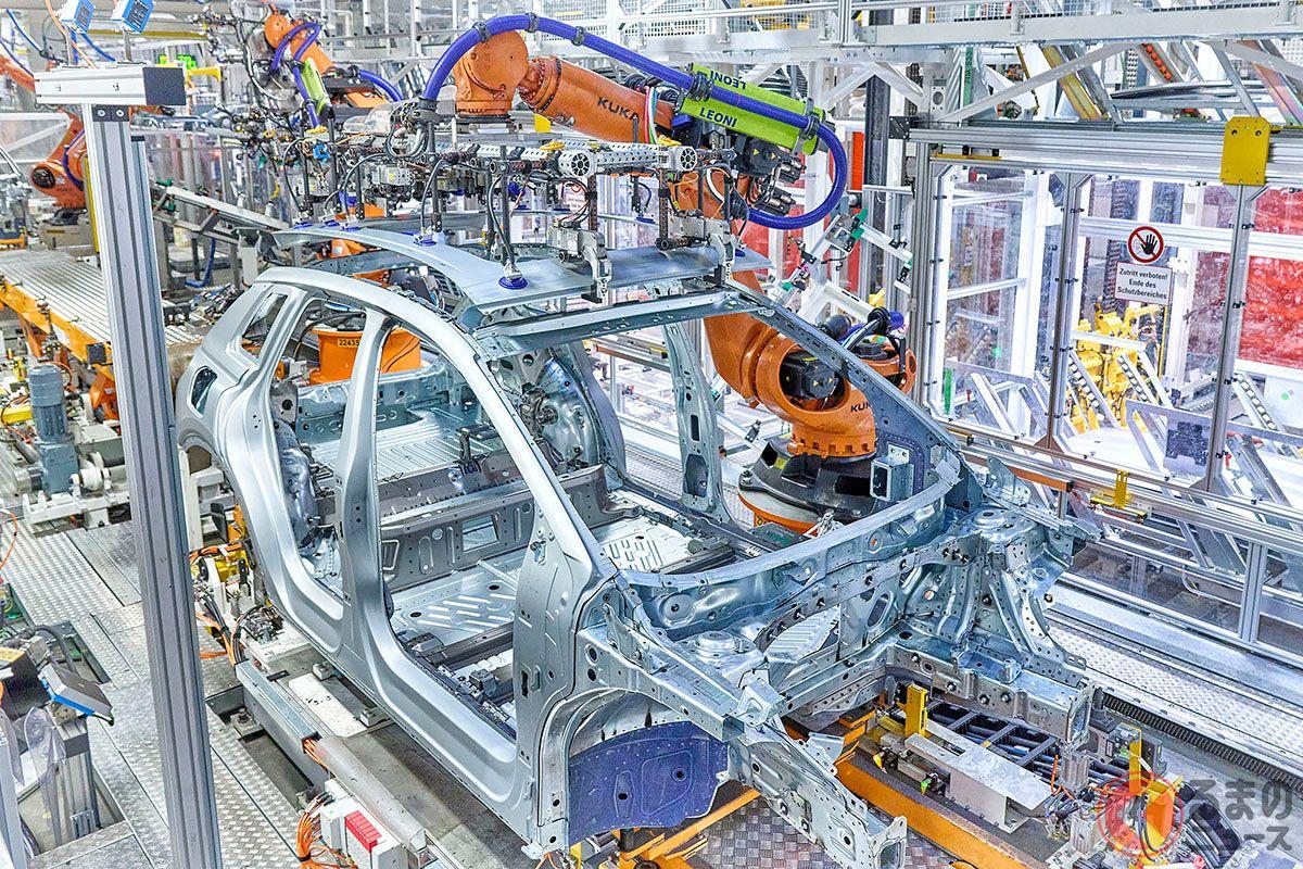 ドイツ・ザクセン州にあるツヴィッカウ工場で生産が開始されたアウディの新型電動コンパクトSUV「Q4 e-tron」