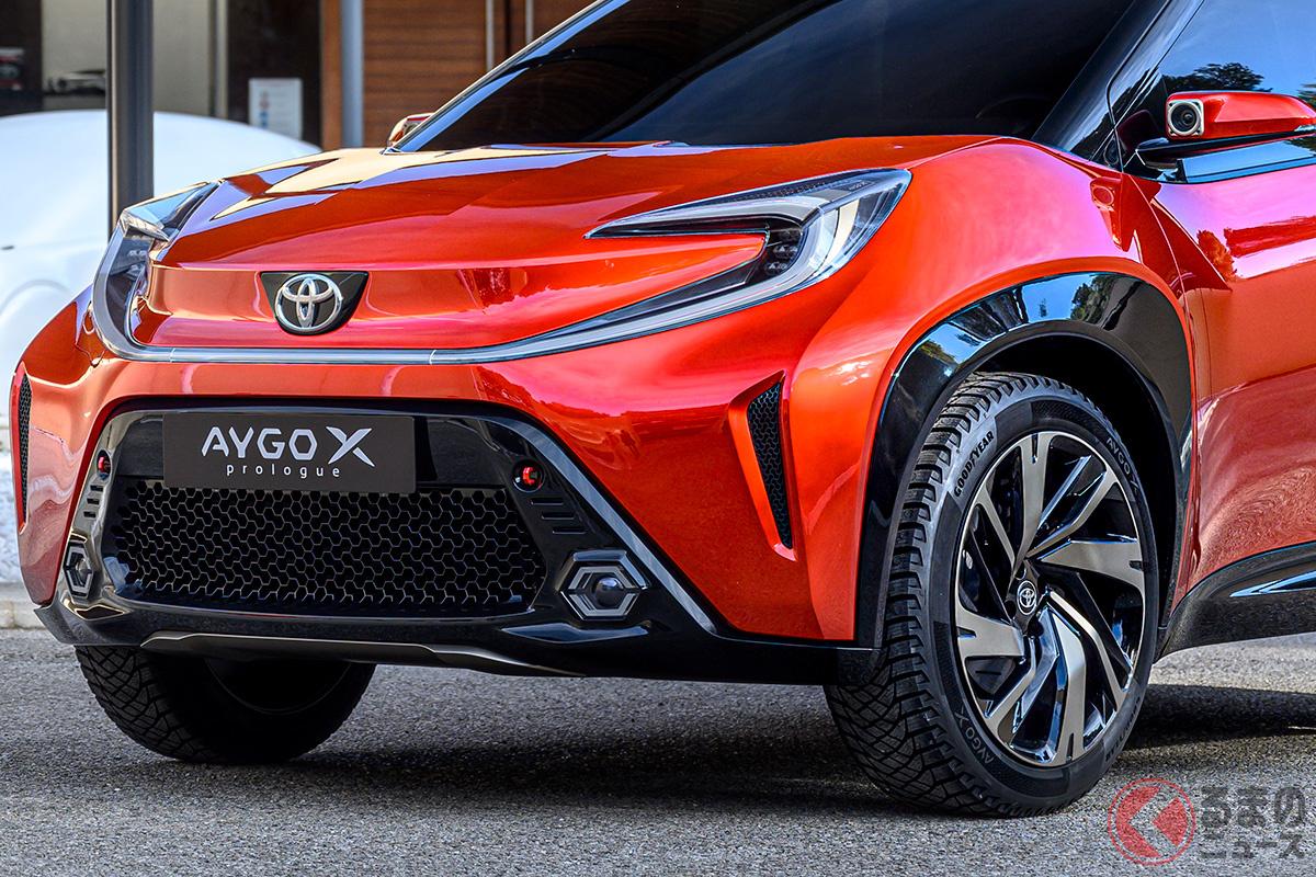 トヨタ新型「アイゴXプロローグ」