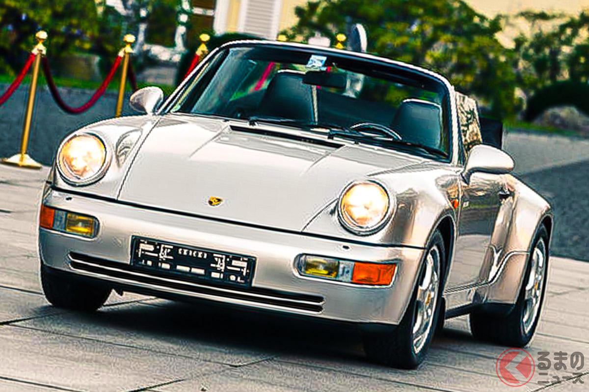 マラドーナがスペインのセビージャFC時代に所有していたポルシェ「911カレラ2 カブリオレ ワークス・ターボ・ルック」(C)Bonhams 2001-2021