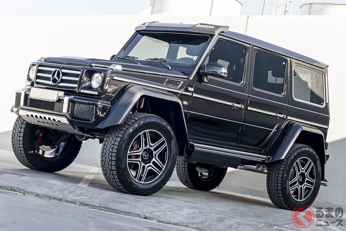 日本国内では2015年2月から同年5月末までの受注のみが限定で受け付けられ、新車価格は3510万円だったメルセデス・ベンツ「G500 4×4スクエアード」(C)2021 Courtesy of RM Sotheby's