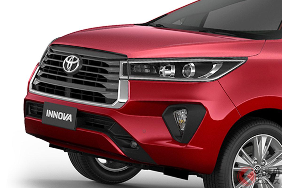 日本には無い! トヨタの海外ミニバンとなる新型「イノーバ」