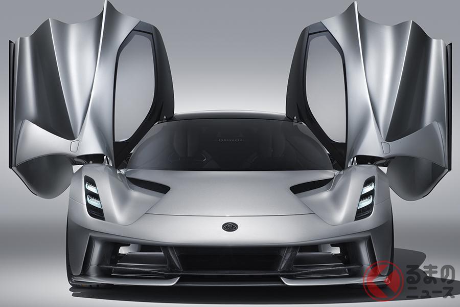 ロータスのハイパーEV「エヴァイヤ」。2020年後半から生産開始予定