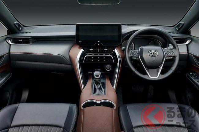 トヨタ新型ハリアーの内装色はコントラストを抑えた色合い