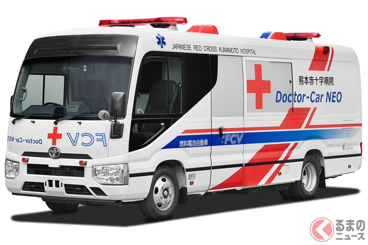トヨタが開発した水素を使って発電する燃料電池医療車