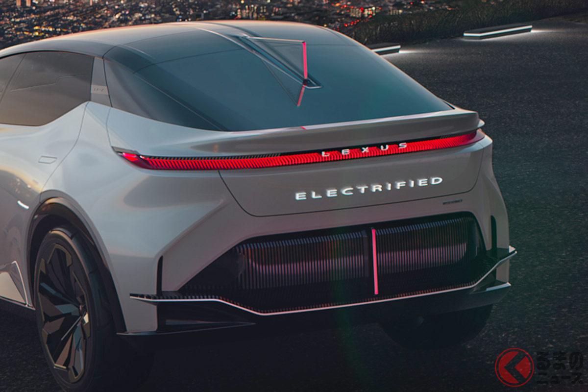 横一文のテールランプを採用するレクサスのEVコンセプトカー「LF-Z Electrified」