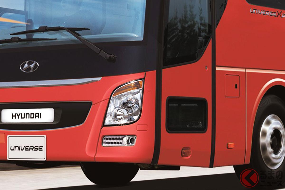 ヒュンダイの大型バス「ユニバース」(画像:現代自動車ジャパン公式ウェブサイトより)