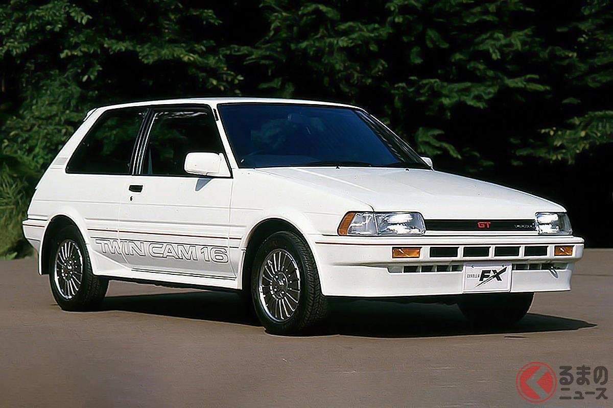 シリーズ初のFF高性能モデルとしてデビューした「カローラFX-GT」