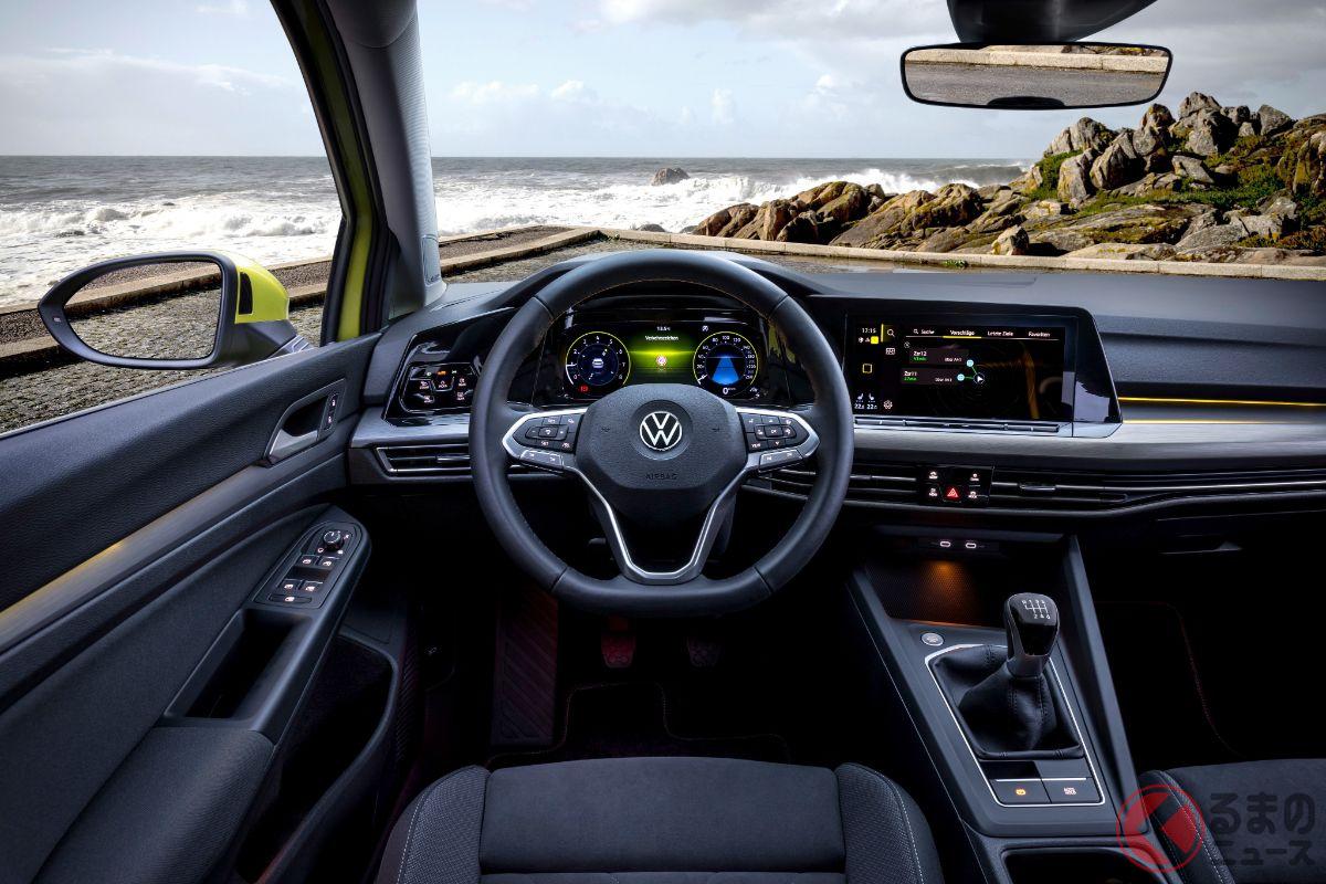 VW新型「ゴルフ」のインパネ