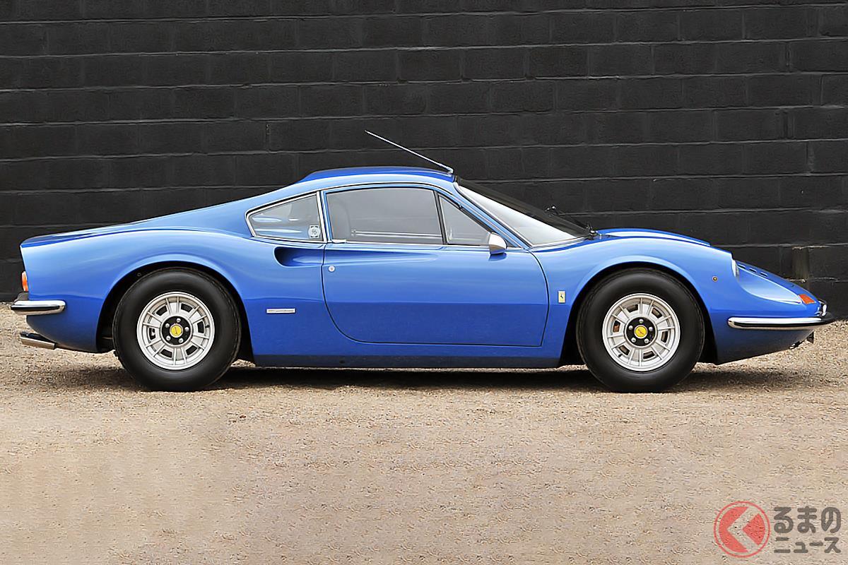 美しいミッドシップスポーツカーの代名詞のような「ディーノ246GT」