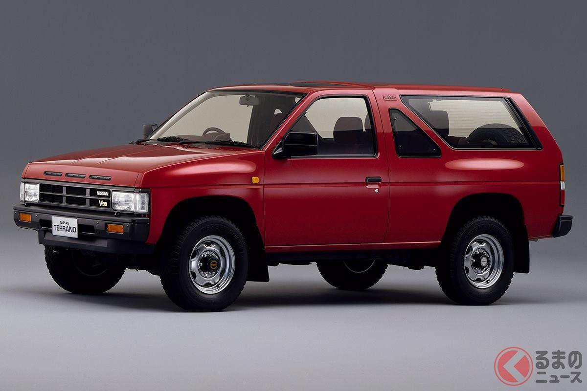2ドアのロングボディSUVでスタイリッシュなデザインからヒットした初代「テラノ」