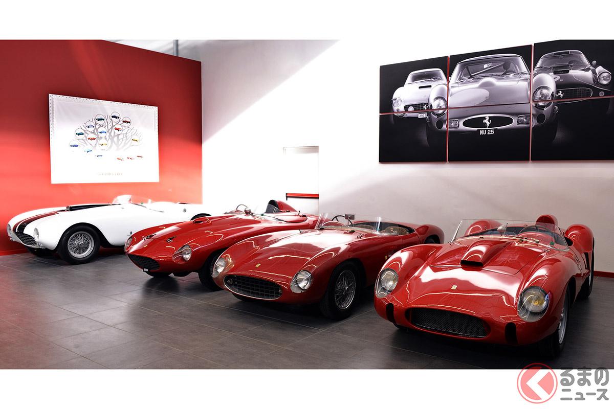 「250GTO」以外でもワークスチーム「スクーデリア・フェラーリ」のために製作されたレーシングバルケッタやレーシングプロトタイプも高額だ