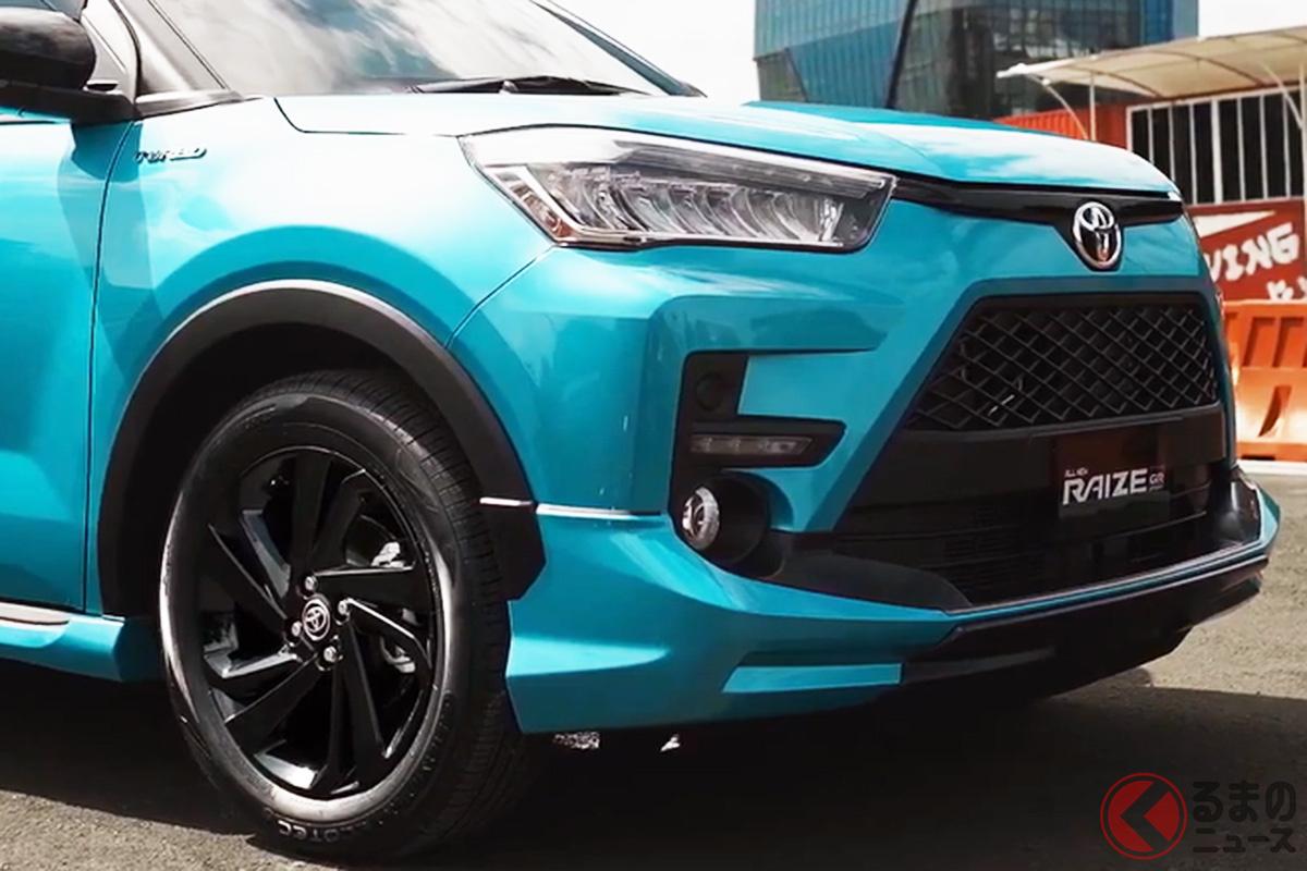 インドネシア仕様のトヨタ「ライズ」(1.0T GRスポーツタイプ)