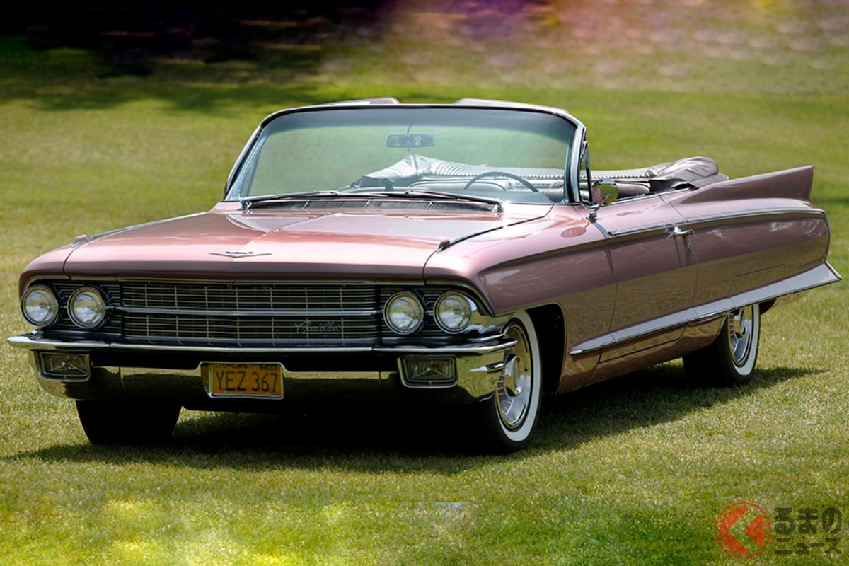 1962年製キャデラック「エルドラド」。リアデザインはテールフィンになっている
