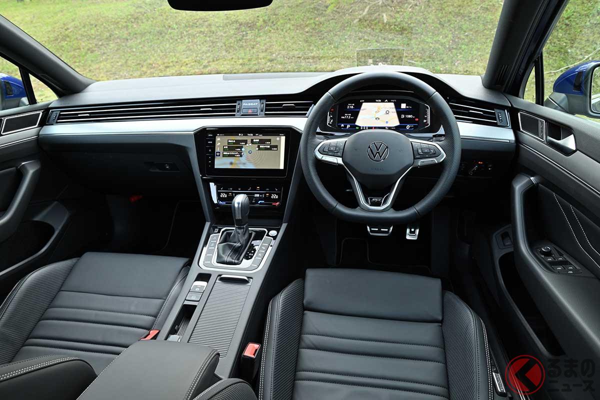 VW新型「パサートヴァリアント TDI Rライン」のインパネ