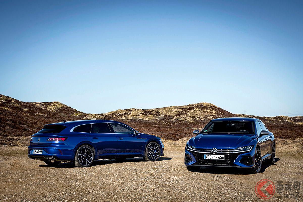 VW新型「アルテオンR」と「アルテオンRシューティングブレーク」