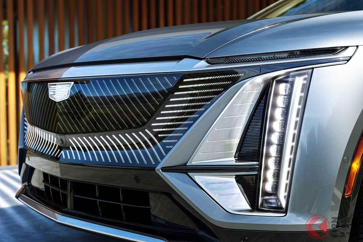 キャデラックの新型電動SUV「リリック」のフロントマスク