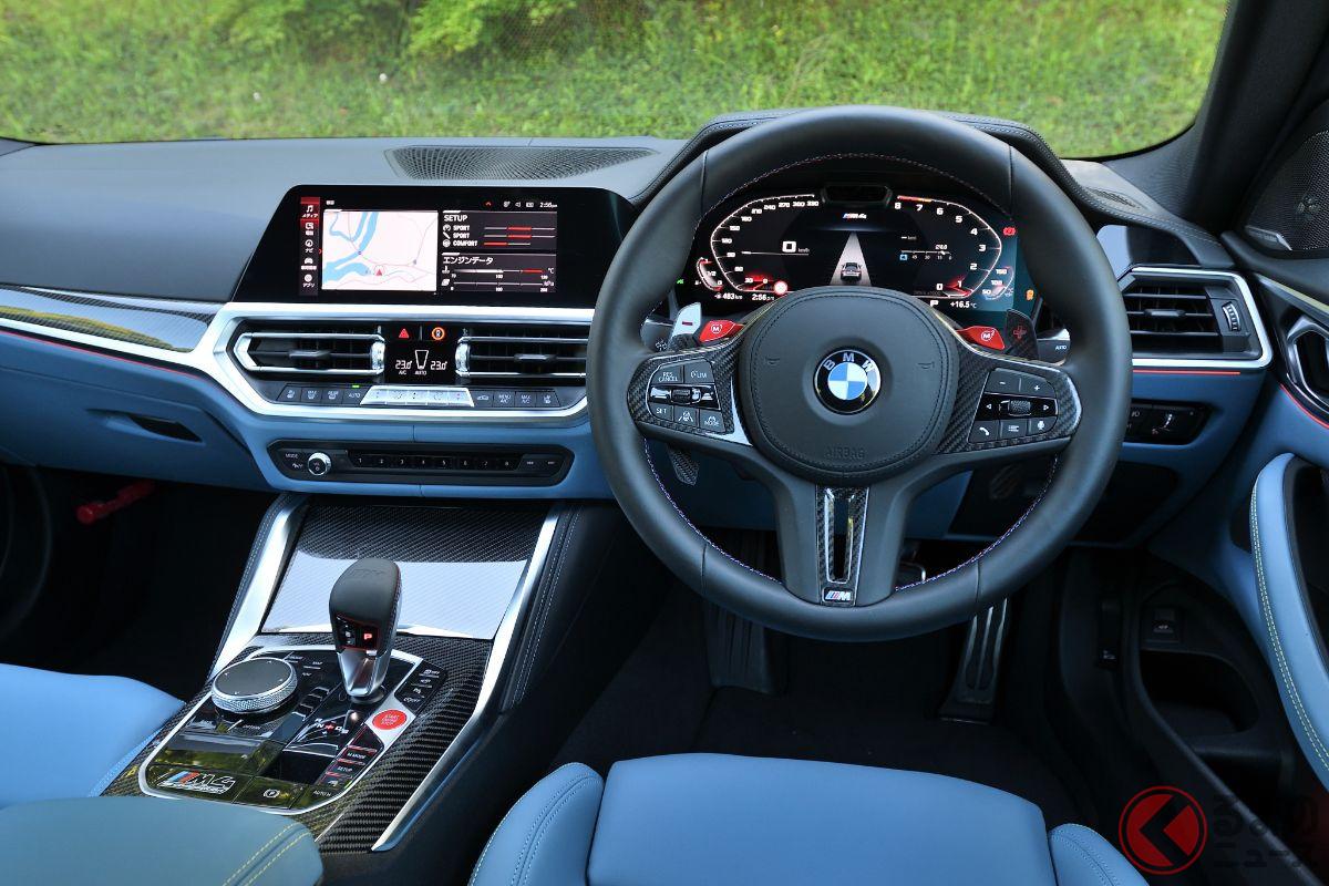 BMW「M4クーペ コンペティション」のインパネ