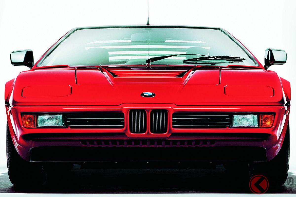 BMW M社が開発したBMW初のスーパーカー「M1」。1978年から1981年にかけて製造された