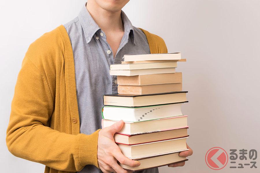 思い本はクルマだと持ち運びが便利