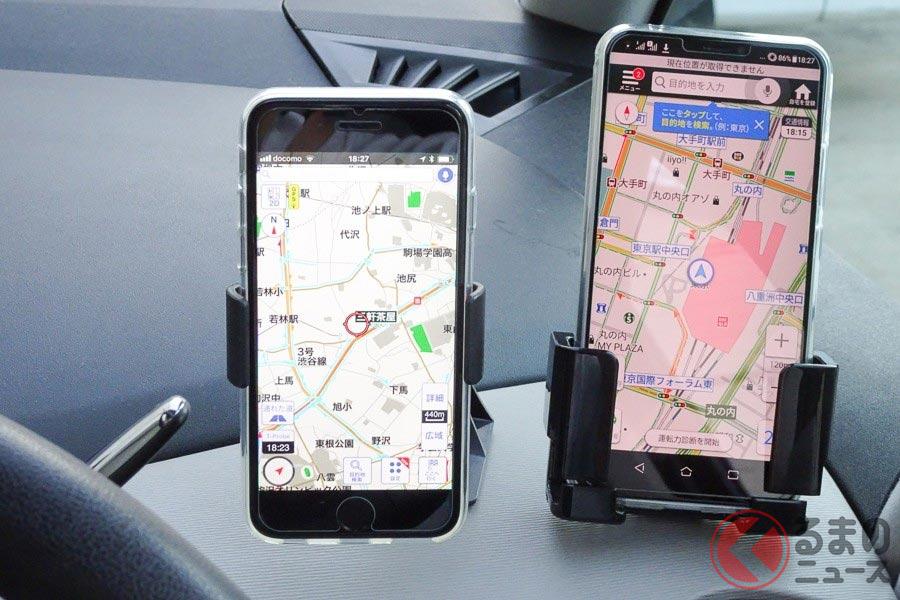 カーナビの代わりに道案内してくれるスマートフォンの地図アプリ