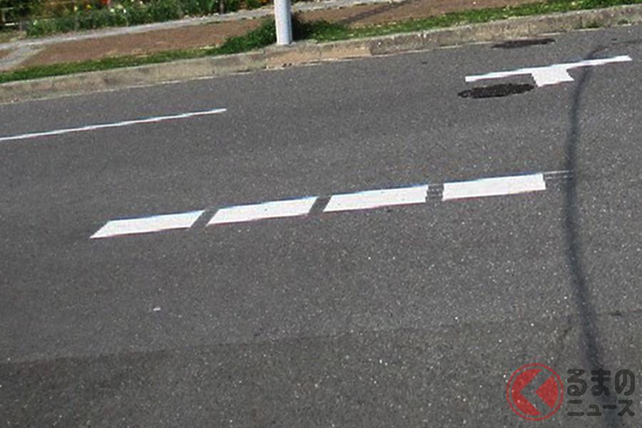 市区町村など道路管理者が設置する「指導停止線」(イメージ)