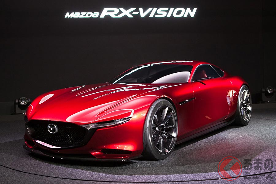 市販化が熱望されるマツダのロータリーエンジン搭載コンセプトモデル「RX-VISION」