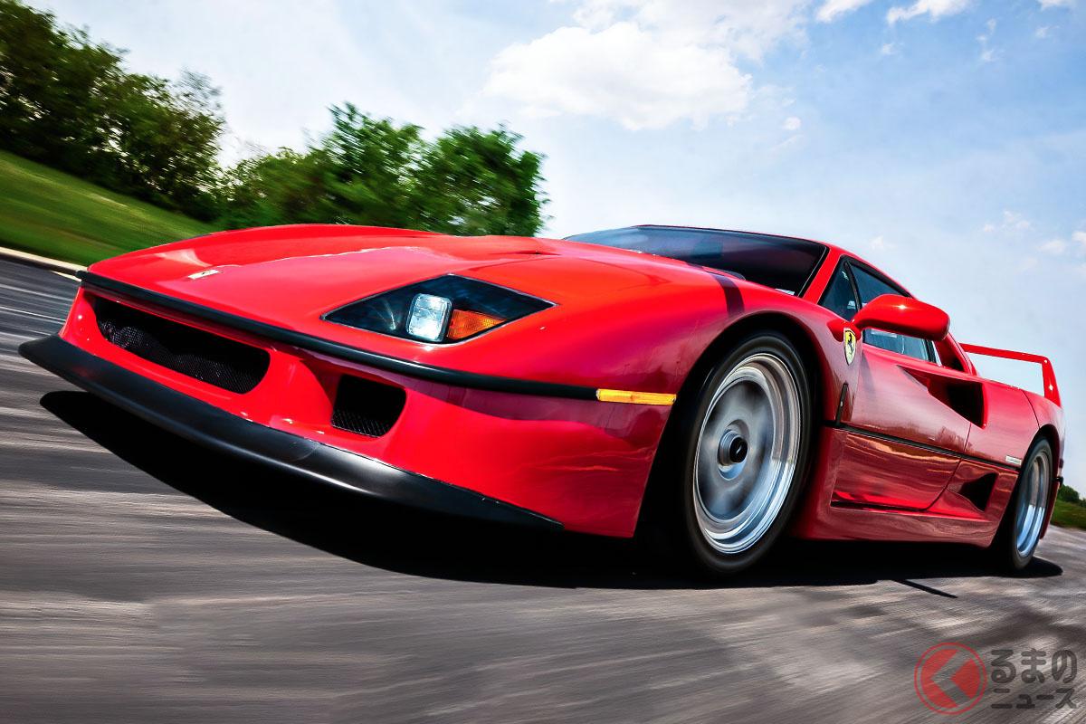 バブル時代に新車価格の4倍以上の2億円ものプレ値がついた「F40」(C)2021 Courtesy of RM Sotheby's
