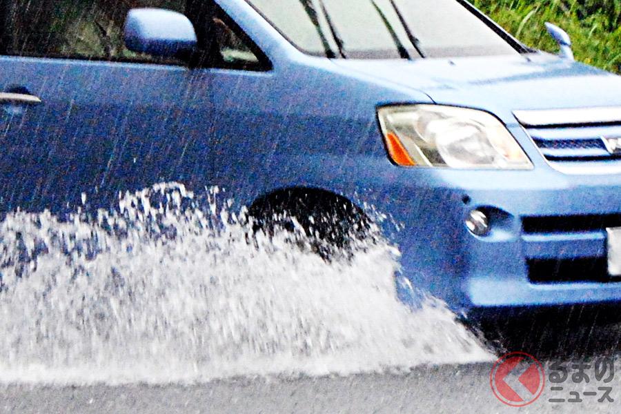 雨天時のクルマの水はね・泥はね 速度との関係は?