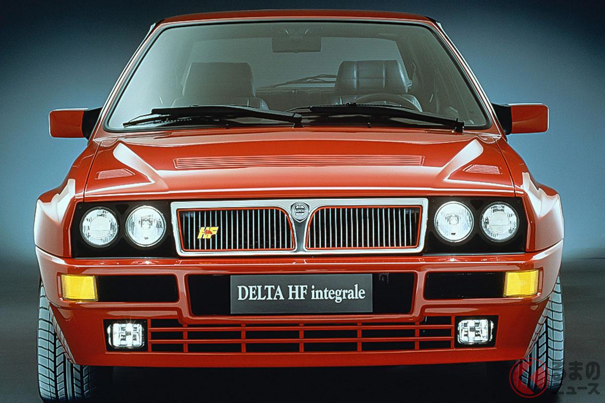"""ランチア「デルタ」は1979年に登場、後に""""高い性能(High Fidelity)""""を意味するHFというモデルをラインナップした。種類は全部で6つ。「HFターボ」、「HF 4WD」、「HF インテグラーレ」、「HF インテグラーレ 16V」、「HFインテグラーレ エボルツィオーネ」、「HFインテグラーレ エボルツィオーネII」となる(C)Stellantis N.V."""