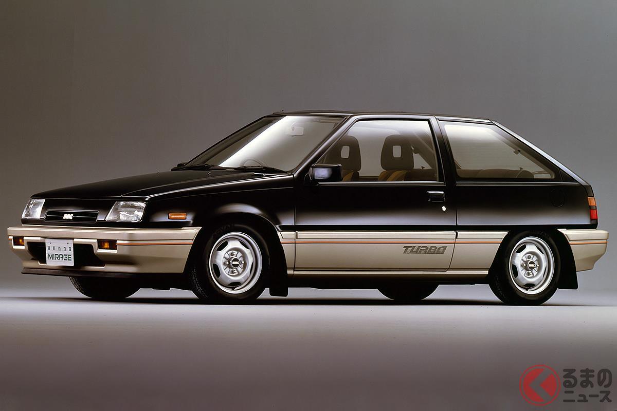 シャープなデザインとスポーティなターボエンジンで人気となった2代目「ミラージュ」