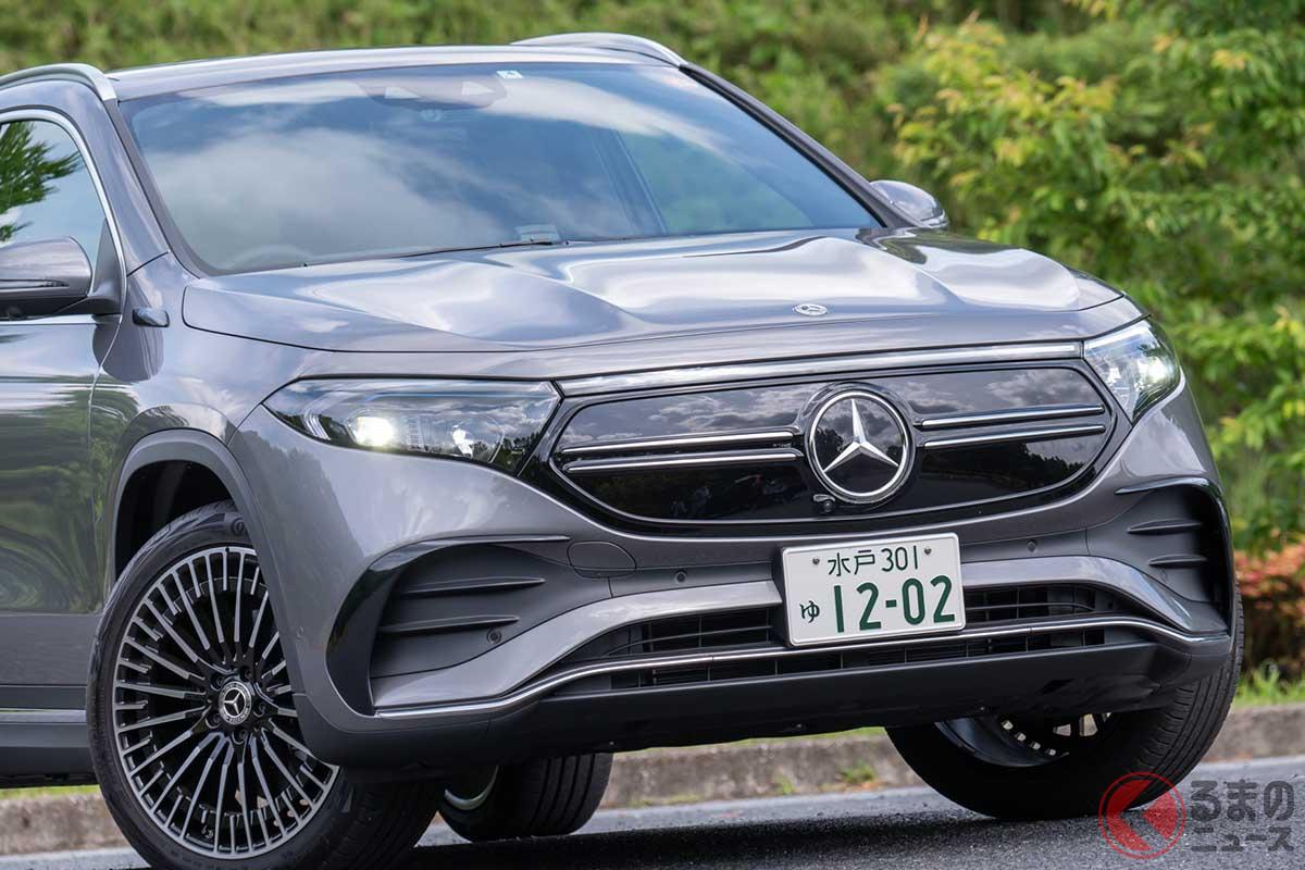メルセデス・ベンツ新型「EQA」。写真はAMGライン装着車