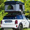 キャンプに最適なレトロ小型車登場! 「MINI」電動2モデルのルーフテント仕様がイカしてる