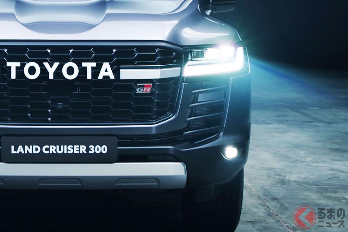 標準とGRスポーツの2デザインが設定されるトヨタ新型「ランドクルーザー」のGRスポーツ仕様(画像:トヨタのロシア公式YouTubeより)