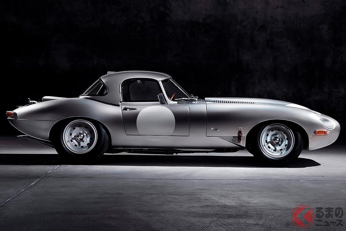 ロングノーズ・ショートデッキのスポーツカーの代表的存在である「Eタイプ」(画像はレース仕様)