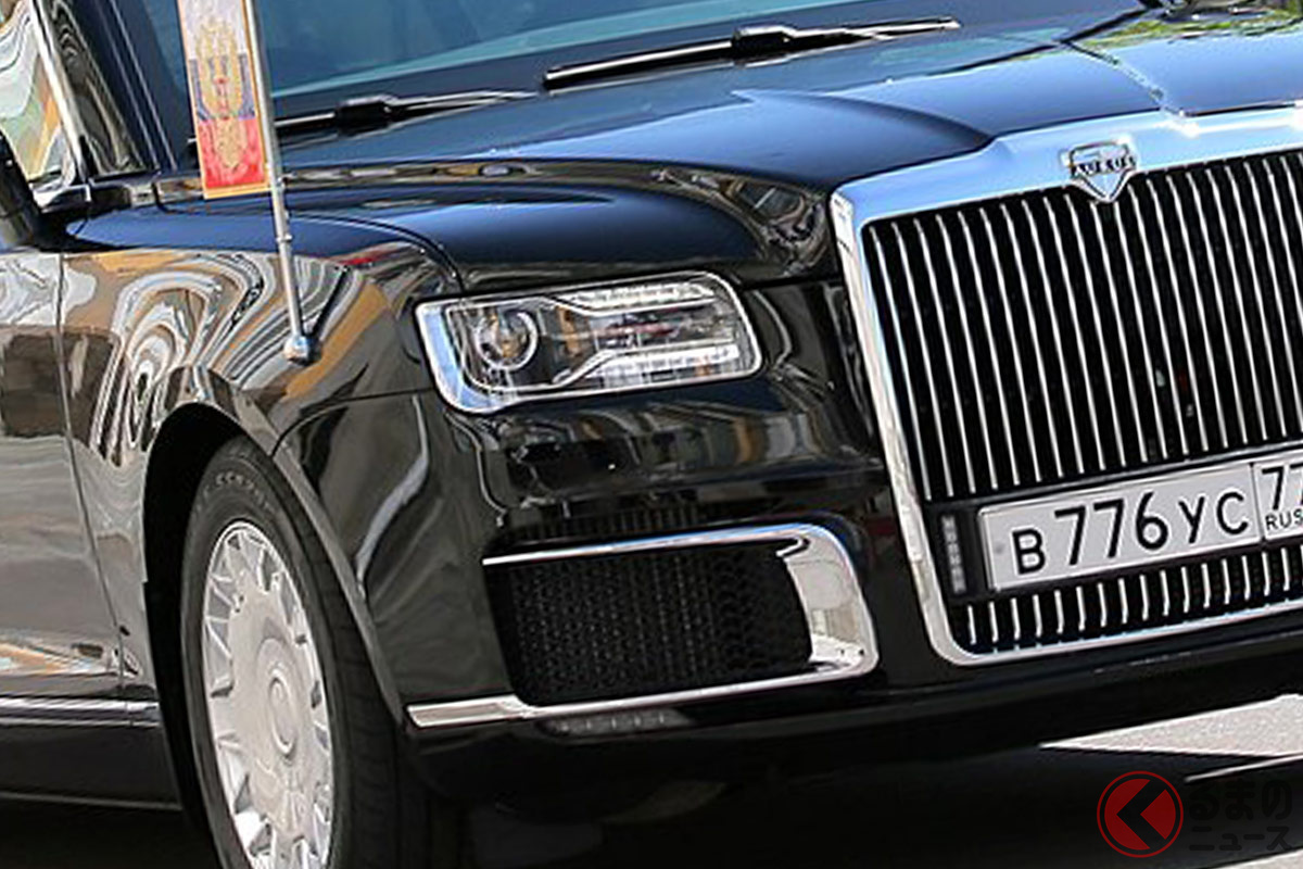 プーチン大統領専用車となるアウルス「セナートリムジン」(画像:ロシア大統領府)