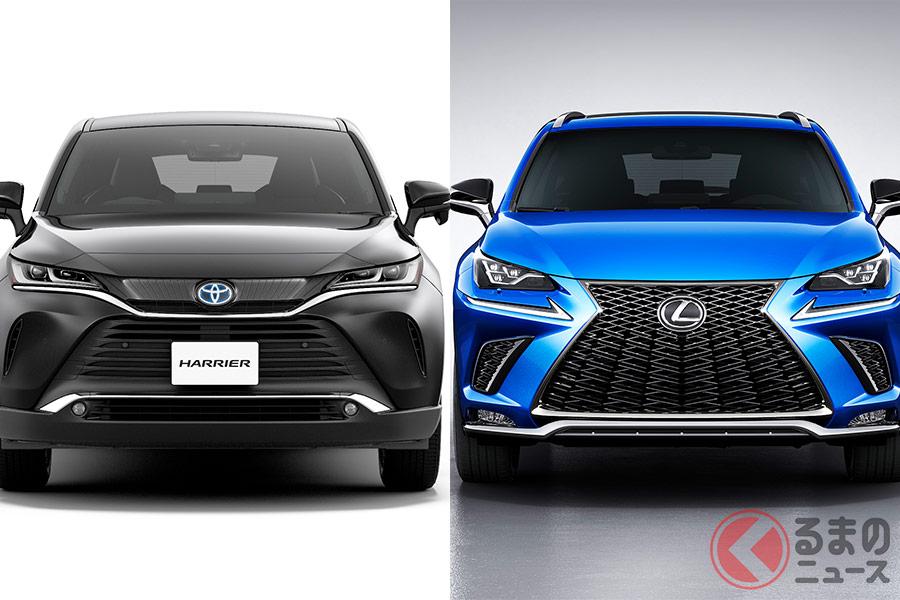 トヨタの新型「ハリアー」とレクサス「NX」